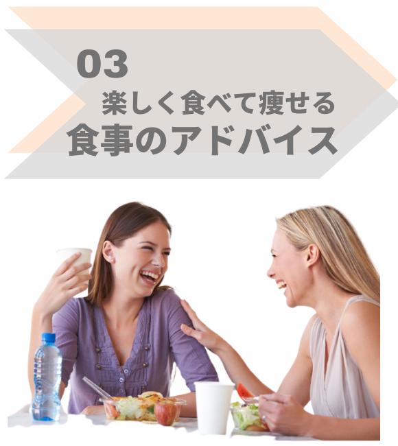 特徴3,食事制限なし。3食食べてダイエット