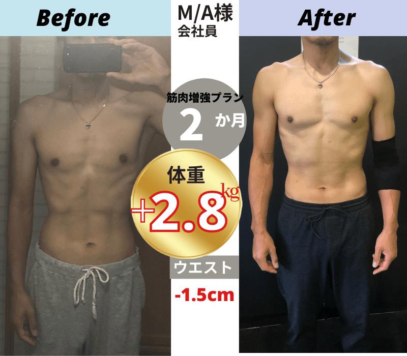 パーソナルトレーニングBefore/After写真③